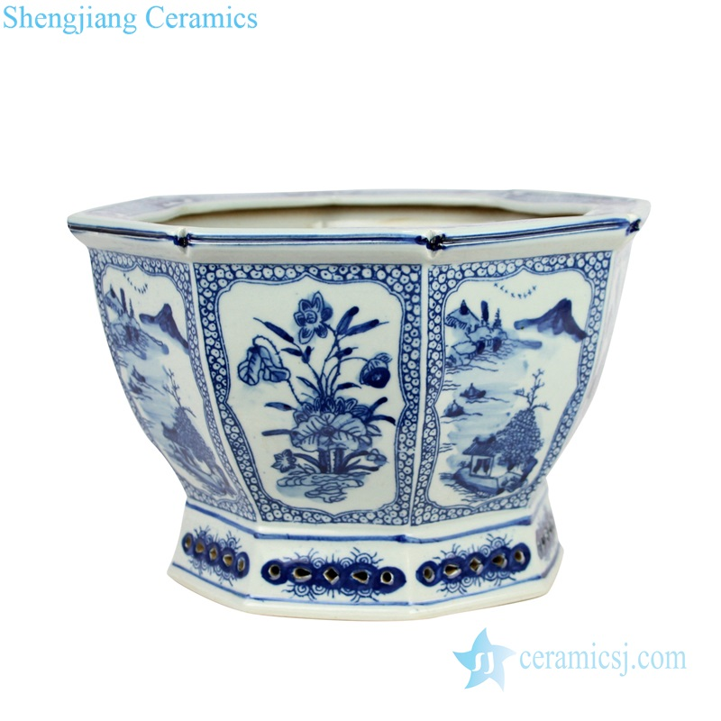 modern style Qing dynasty antique ceramic flower pot