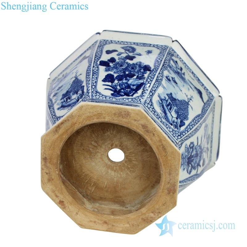 RYSZ01-OLD modern style Qing dynasty antique ceramic flower pot