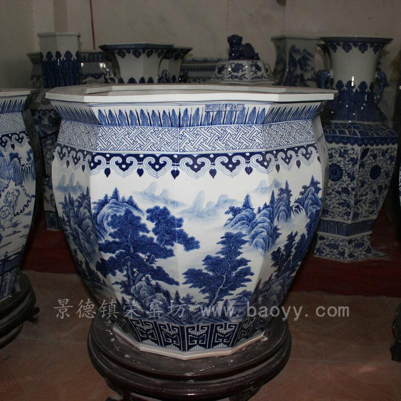 high quality chinese Blue White Ceramic Planter