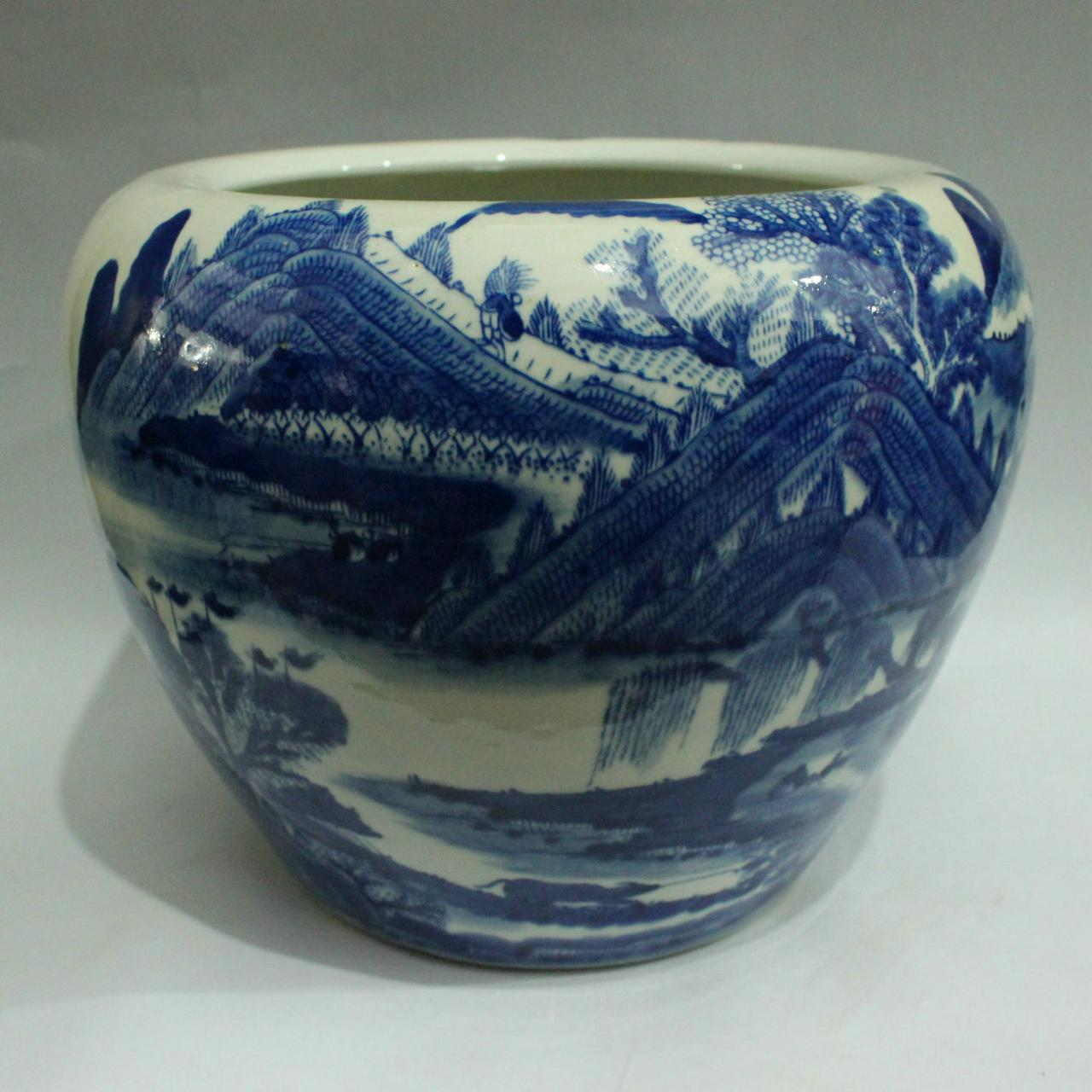 high quality blue and white chinese flower pot